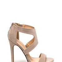 X Marks The Strappy Stiletto Heels