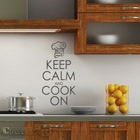 Keep Calm and Cook On Vinyl Wall Art FREE Shipping by showcase66