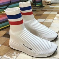 Balenciaga 2018 counter limited edition second generation new socks shoes F-RCSTXC white