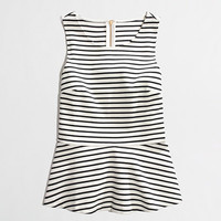 Factory ponte peplum top in stripe - 40-50% Off Shorts & Tees - FactoryWomen's FactoryWomen_Feature_Assortment - J.Crew Factory