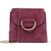 Little Liffner - Tiny Box suede shoulder bag