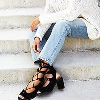 Jeffrey Campbell + Free People Womens Lola Lace Up Heel