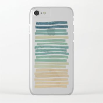Sand and sea Clear iPhone Case by eDrawings38