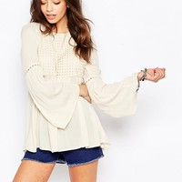 Only Open Back Bell Sleeve Tunic at asos.com