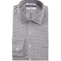 Cremieux Slim-Fit Spread-Collar Dress Shirt - Tan Multi