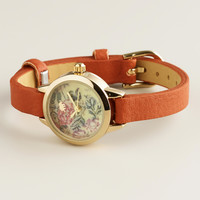 Brown Floral Face Watch - World Market