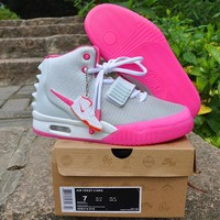 Nike Air Yeezy 2 NRG Gray/Pink Sneaker Size US5.5-8