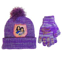 Disney's Descendants Evie & Mal Space-Dyed Knit Hat & Glove Set - Girls 7-14 (Purple)
