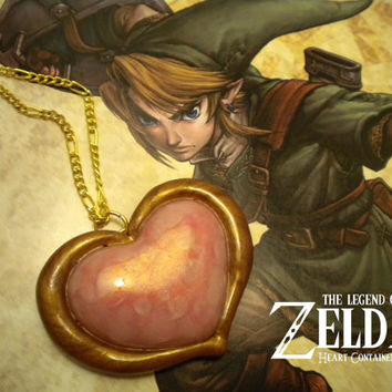 Heart Container Necklace - Legend of Zelda - Nintendo - A Portion of the Proceeds Go To Charity