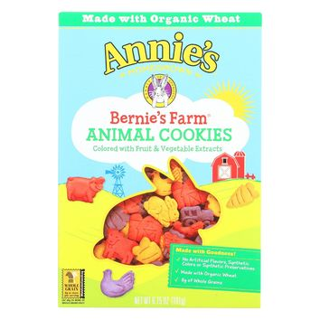 Annie's Homegrown Bernie's Farm Animal Cookies - Case Of 12 - 6.75 Oz.