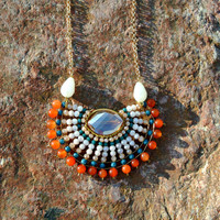 Aztec Beaded Necklace
