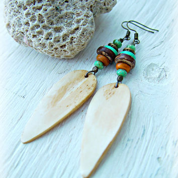 African Earrings - Boho Hippie Earrings - Hippie Earrings - Boho Jewelry - African Jewelry - Ethnic Earrings - Tribal Earrings