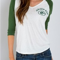 Junk Food Clothing - NFL Green Bay Packers Raglan - NFL - Collections - Womens