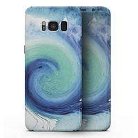 Blue and Teal Watercolor Swirl - Samsung Galaxy S8 Full-Body Skin Kit