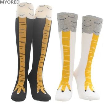 MYORED free shiping women socks 3D funny chicken socks sexy over the knee thigh high long sox girl lady cosplay party dancing