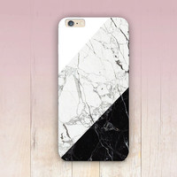 Black & White Marble Print Phone Case- iPhone 6 Case - iPhone 5 Case - iPhone 4 Case - Samsung S4 Case - iPhone 5C - Tough Case - Matte Case