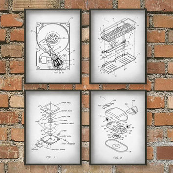 Computer Geek Wall Art Poster Set
