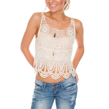 Odelia Lace Crop Top