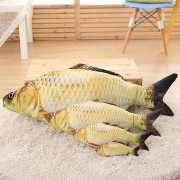 plush toys Simulation fish soft Crucian carp stuffed animals dolls cartoon fish gift for kids