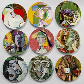 Picasso Famous Abstract Oil Painting Decorative Wall Hanging Plate