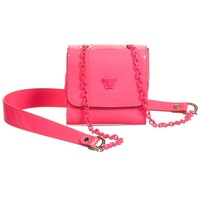 Neon Pink Small Patent Leather Bag (12cm)