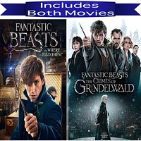 Fantastic Beasts 1 & 2 Movies on DVD