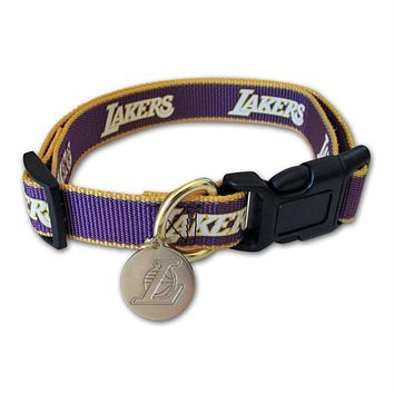 Los Angeles Lakers Reflective Dog Collar