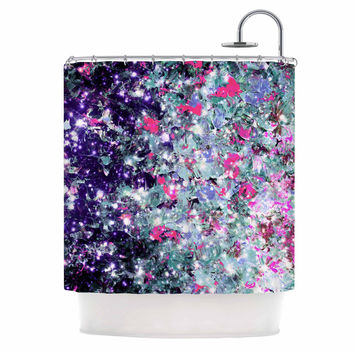 "Ebi Emporium ""In Perpetuity Purple Pink"" Lavender Painting Shower Curtain"