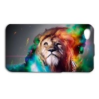 Cute Gorgeous Custom LION Animal Cat Cover iPhone Cool Phone Rainbow Fire Pretty