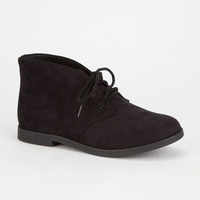 Soda Play Chukka Womens Booties Black  In Sizes