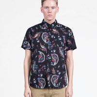 Paisley Button-Down Shirt in Black