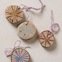 Handpainted Timber Tie-Ons by Anthropologie Novelty One