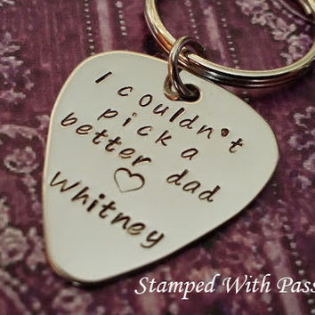 I couldn't pick a better dad handstamped keychain