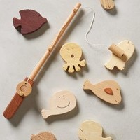 Wooden Fishing Kit by Anthropologie Sand One Size House & Home