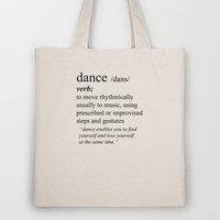 Dance Tote Bag by haleyivers | Society6