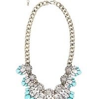 Women's Robert Rose Stone Cluster Chain Necklace - Turquoise/ Aqua