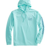 Long-Sleeve Whale Performance Hoodie T-Shirt
