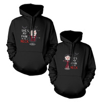 Vampires Couple Cute Matching Hoodies Halloween Hooded Sweatshirts