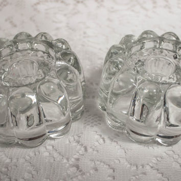 Vintage Princess House Candle Holders (Set of Two)