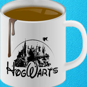 hogwarts castle as disney castle mug design heppy coffee.