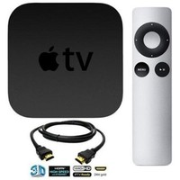 Apple TV Streaming Media Player Bundle including DeOrz High-Speed 3-Foot HDMI Cable