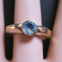 Moonstone Ring Vintage Sterling 10K Rose Gold Size 8 Modernist Vintage