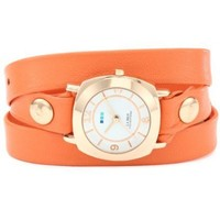 La Mer Collections Women's LMODY3003 Odyssey Wrap Collection Sunrise Orange Watch - designer shoes, handbags, jewelry, watches, and fashion accessories | endless.com