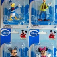 Mickey Mouse Clubhouse Figurines: Mickey, Minnie, Donald & Goofy (Set of 4)
