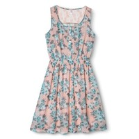 Xhilaration® Junior's Printed Chiffon Dress