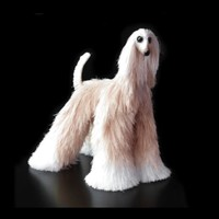 vanilla & white afghan hound, collectibles animals, cute plush toy dog