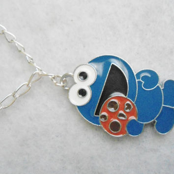 Cookie Monster Chain Necklace