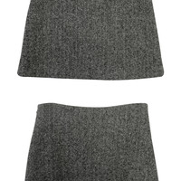 Herringbone Pattern Mini Skirt