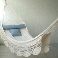 Nicamaka Single Hammock - Ecru