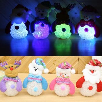 Lighted Snowman, Deer, Bear & Santa Clause Christmas Decorations